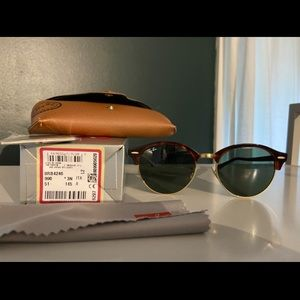 Ray-Ban Clubround RB4246 990 51-19 tortoise g-15